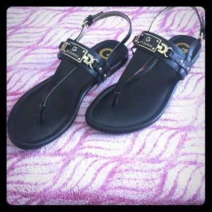 GUESS Black Sandals Sz 9 - Never Worn